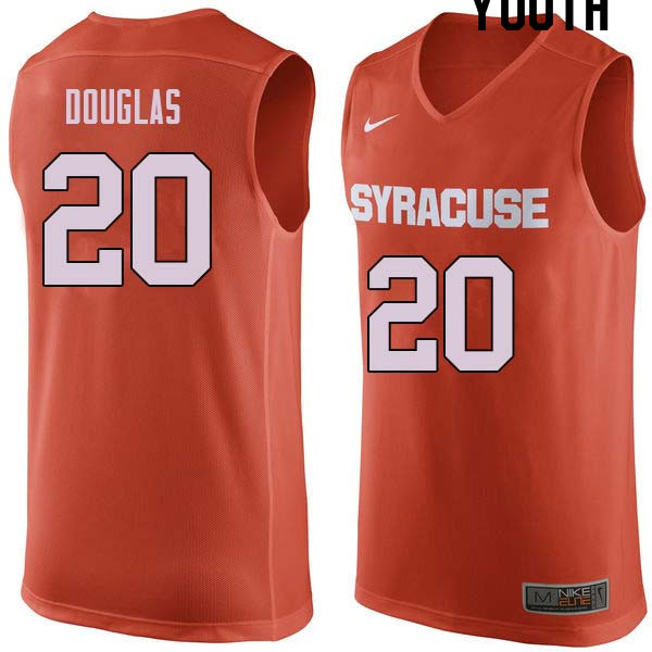 Youth #20 Sherman Douglas Syracuse Orange College Basketball Jerseys Sale-Orange