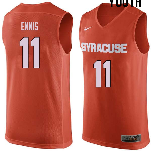 Youth #11 Tyler Ennis Syracuse Orange College Basketball Jerseys Sale-Orange