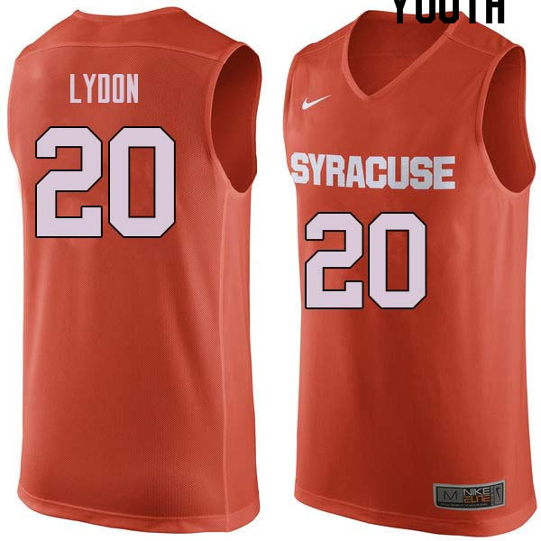 Youth #20 Tyler Lydon Syracuse Orange College Basketball Jerseys Sale-Orange